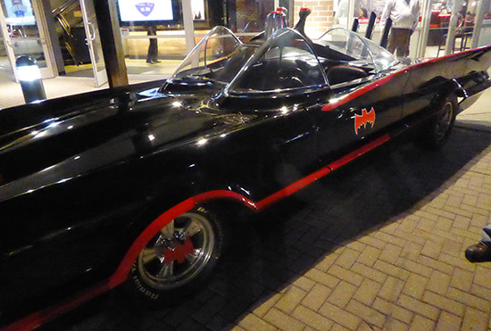 The Batmobile outside Viper Alley