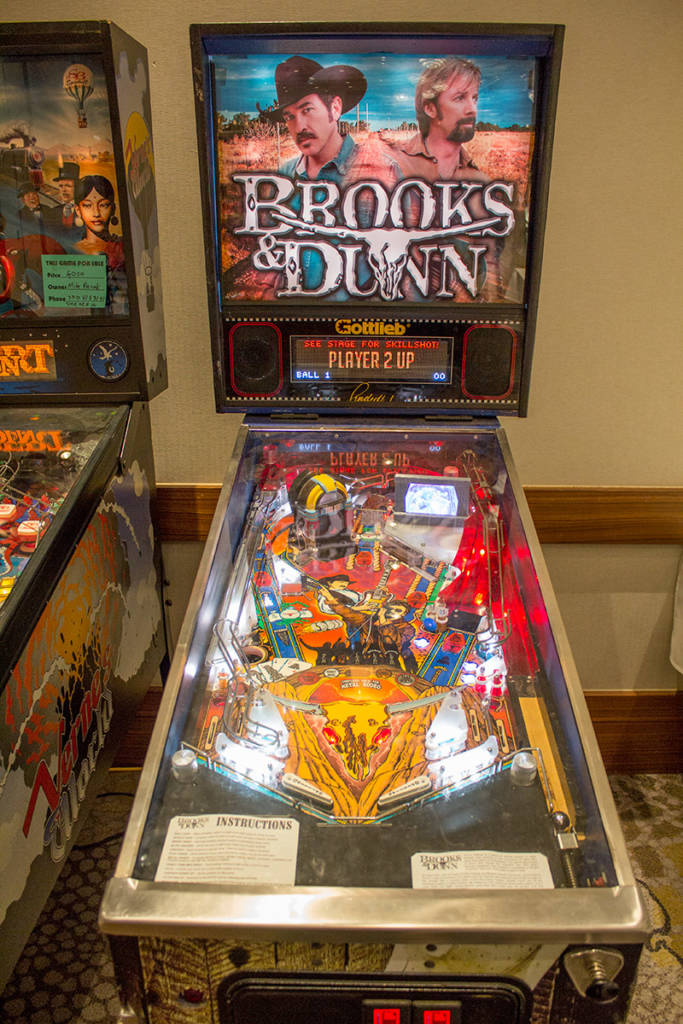 This newly-built Brooks & Dunn game was to be Gottlieb's next game before they closed