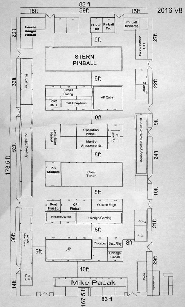 The provisional Vendor Hall floor plan