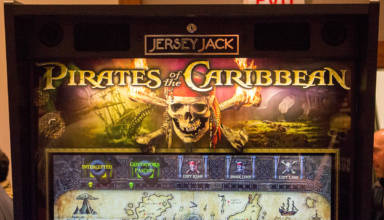 The Pirates of the Caribbean backbox