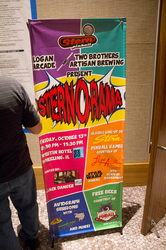 The banner for Stern-O-Rama