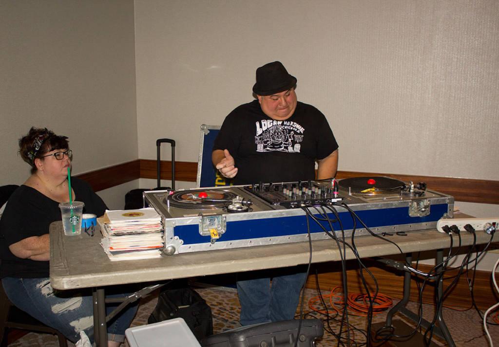 The evening's DJ