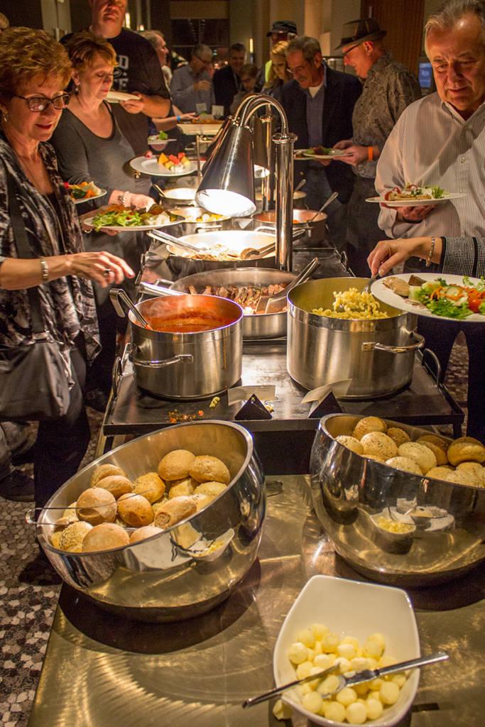 The hot buffet dinner