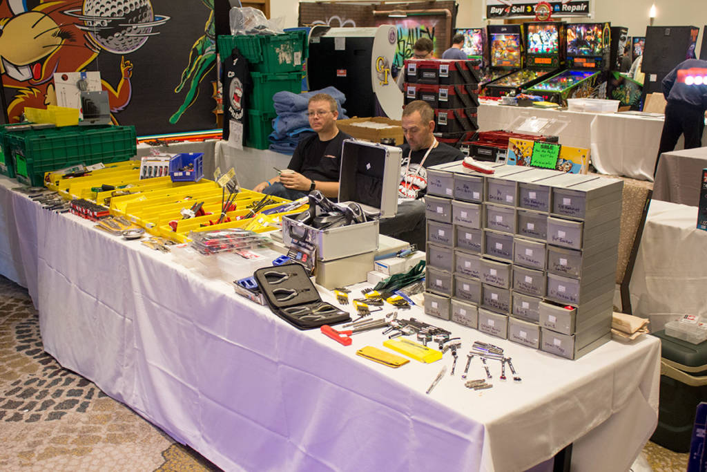 CP Pinball were in the centre of the row selling assorted tools