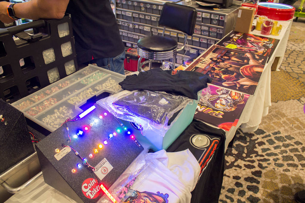 CoinTaker carried their usual large range of pinball LEDs as well as translites and pinball swag