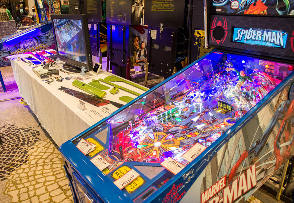 Behind the Pin Stadium games, Pinball Refinery had some classy-looking Stern games