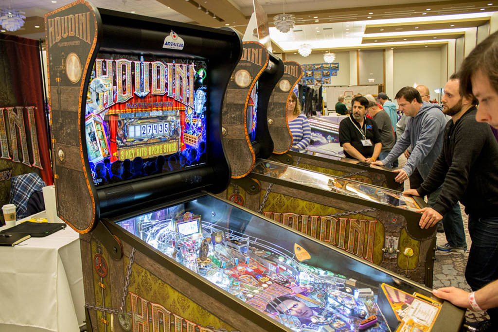 American Pinball's brought three of their Houdini games