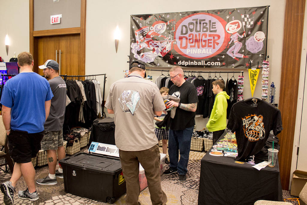 Double Danger were selling their pinball shirts