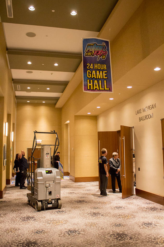 The Game Hall is located behind the Vendor Hall