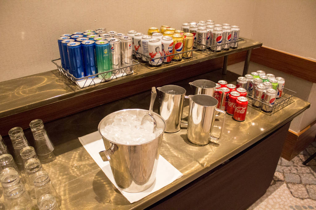 The soft drinks available