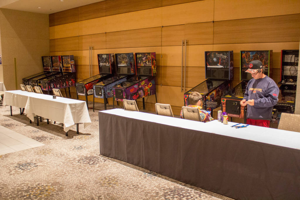 The tournament area at the front of the hotel