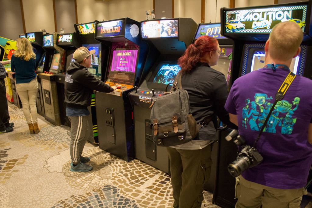 Video games in the centre of the hall