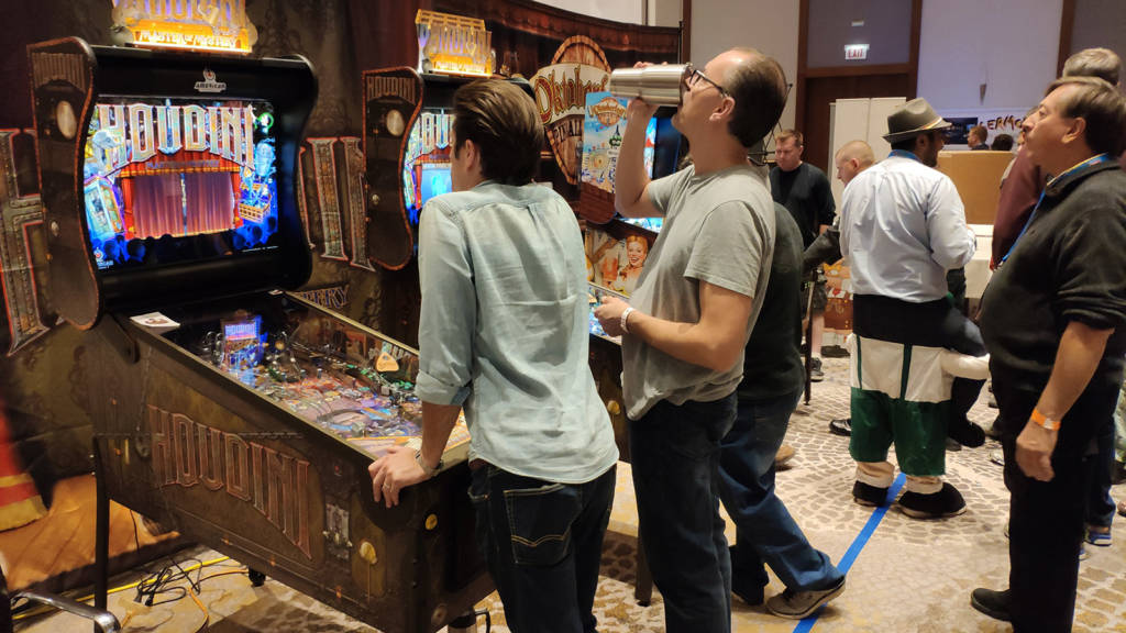 Two more Houdini machines were available for general play