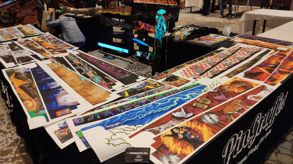 PinGraffix were selling cabinet interior artwork and their illuminated Attack From Mars backbox art