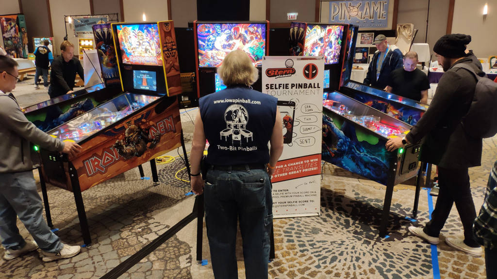 Stern Pinball had a circle of their latest title, with a selfie tournament on Deadpool Premium