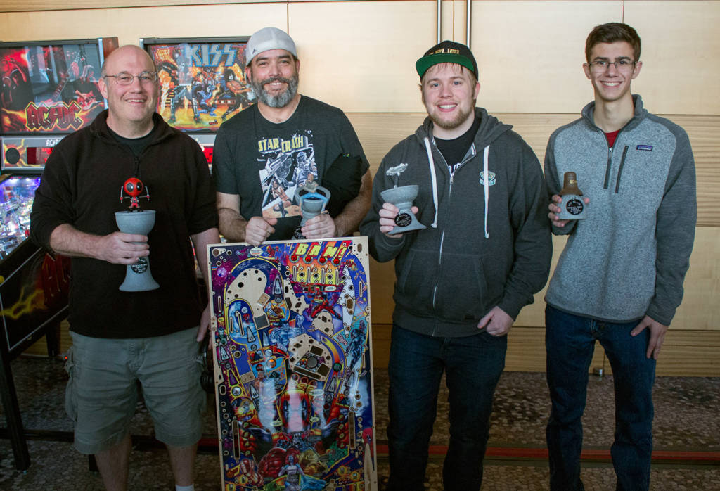 The top four in the Modern Division: Adam Lefkoff (1st), Keith Elwin (2nd), Raymond Davidson (3rd) & Zach Parks (4th)