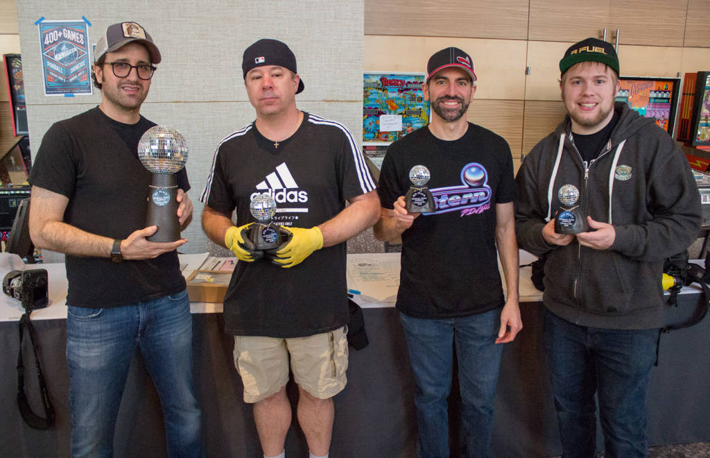 The top four in the Classic Tournament: Zac Wollons (1st), Andy Rosa (2nd), Zach Sharpe (3rd) & Raymond Davidson (4th)
