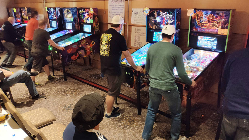 Play in the Flip Out Modern Tournament