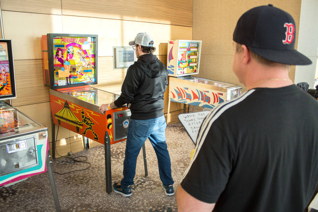 Pinball Pool was played as a one-player game, with the first player's score written down
