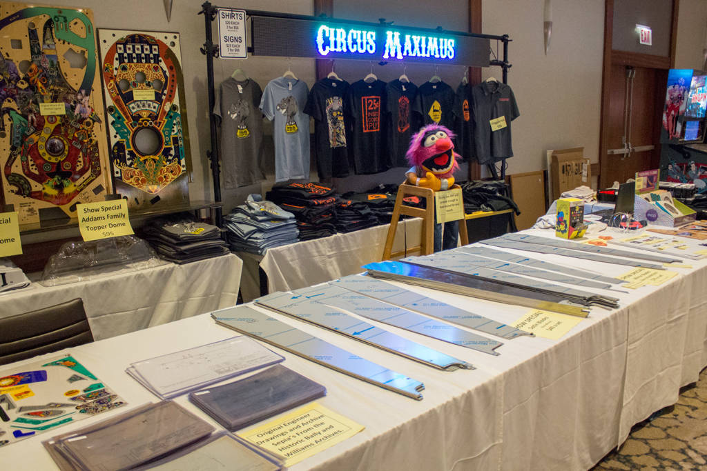 Circus Maximus had a range of replacement parts and also their T-shirts and some rare historical items for sale