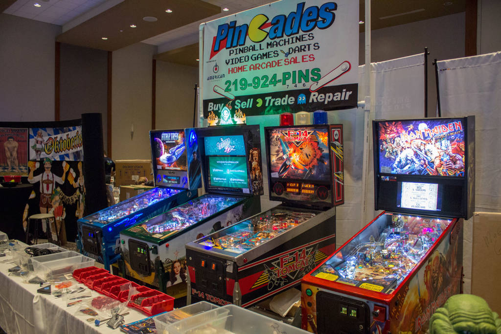 Pincades were selling games from Stern Pinball, Jersey Jack Pinball and American Pinball as well as some pinball parts