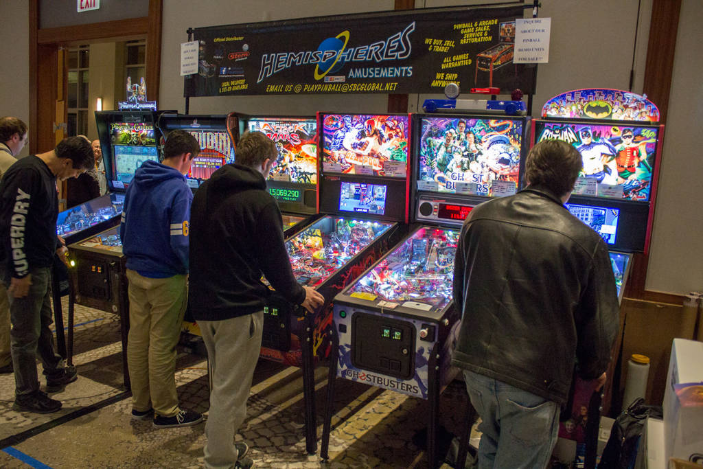 Current titles from Jersey Jack Pinball, American Pinball, Chicago Gaming and Stern Pinball