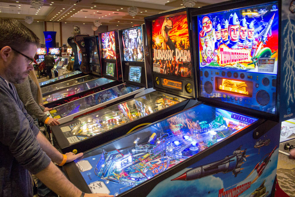 Great American Pinball also brought all these pinballs