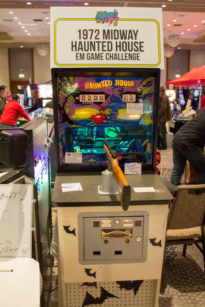 There was a high score tournament run on this Haunted House shooter game