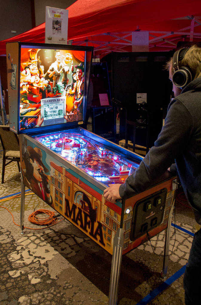 Team Pinball had one of their The Mafia games here on free play