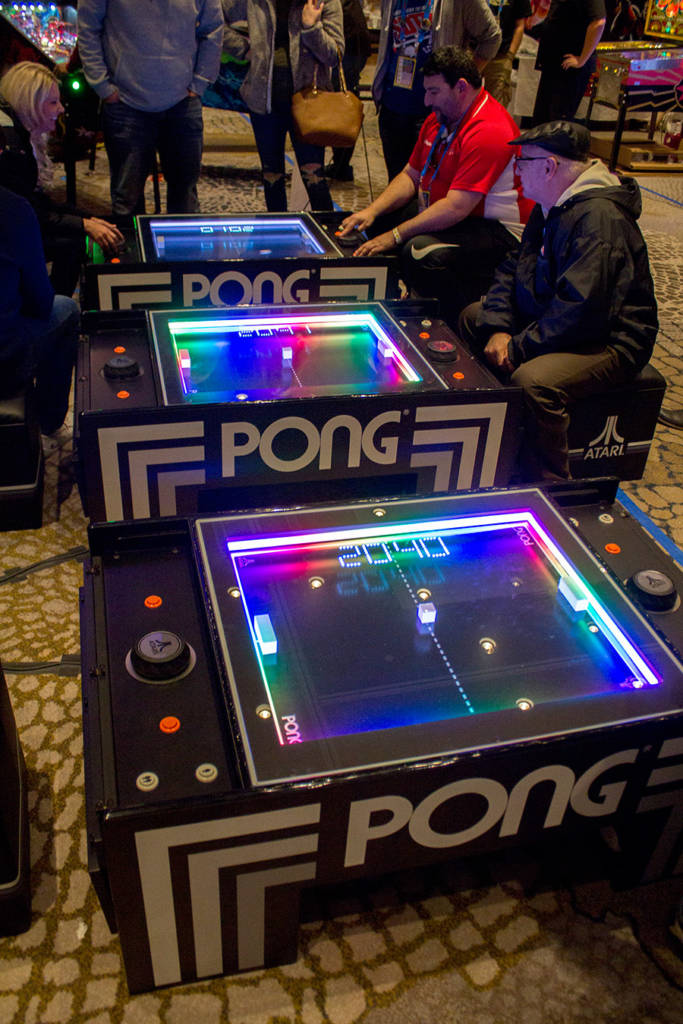 These Atari Pong games were popular here as they have been wherever we have seen them