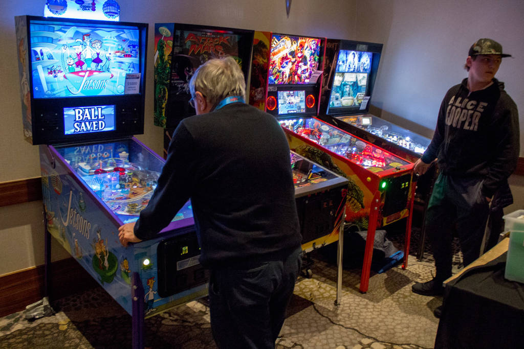The Pinball Company brought four machines including their commissioned game from Spooky Pinball, The Jetsons