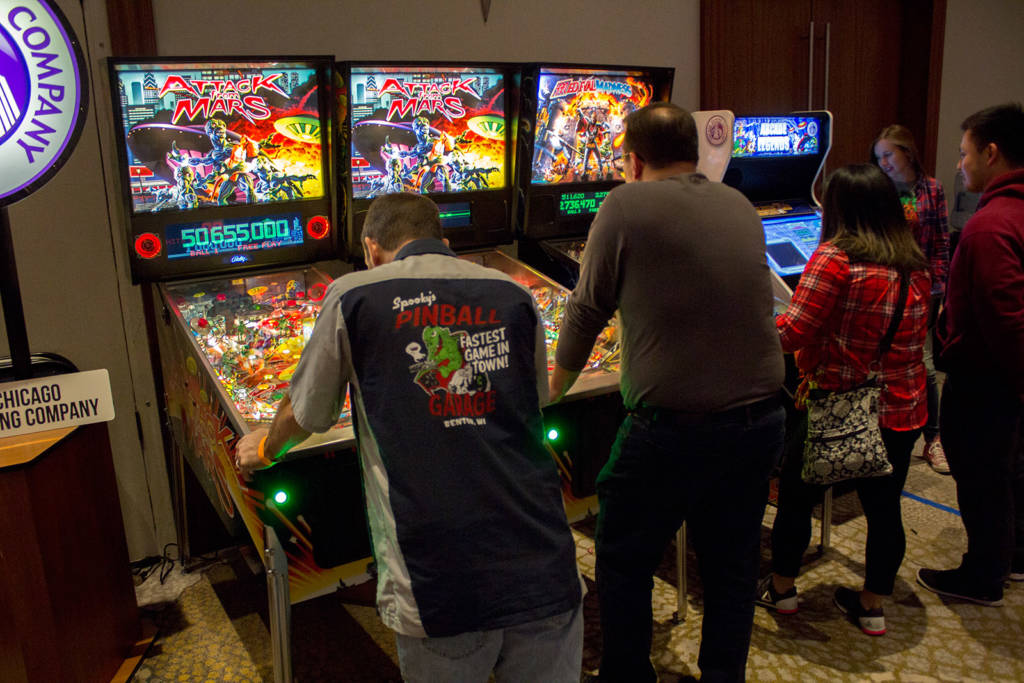 They also brought two Attack From Mars Remakes, a Medieval Madness Remake and their Arcade Legends multi-game video cabinet
