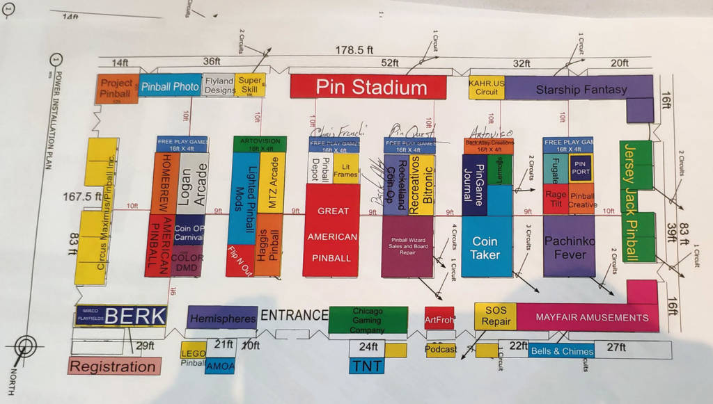 The floor plan for the Vendor Hall