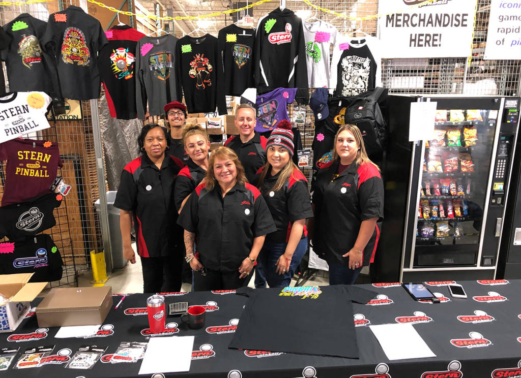 The merchandise shop team were ready for the tour crowd