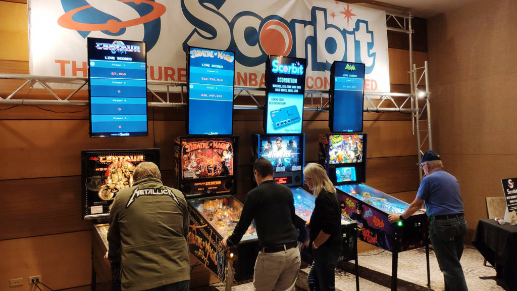 Scorbit - the automated score recording system - had four demonstration machines set up