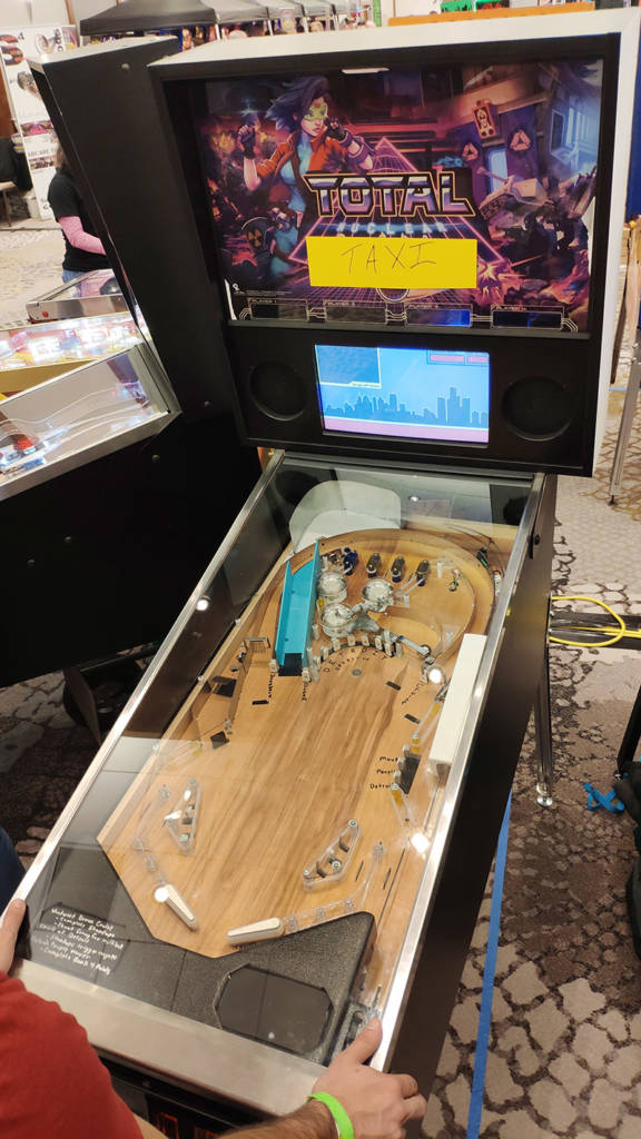 A Detroit-themed Motor City Taxi game by Benzik's Pinball
