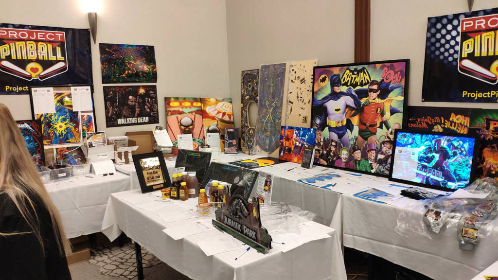 Project Pinball were holding a large fundraising silent auction