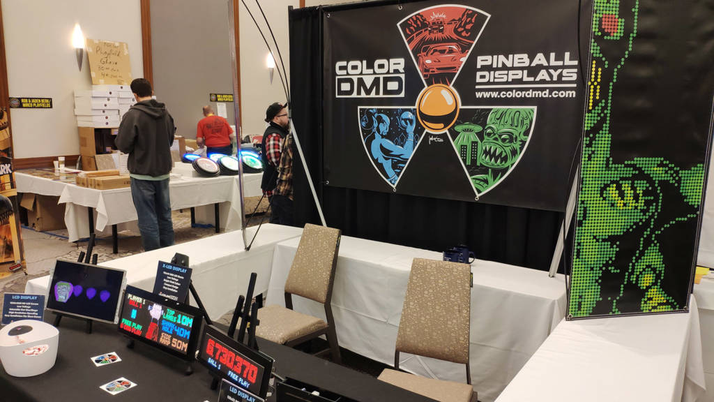 ColorDMD were showing their regular and super-sized colour displays