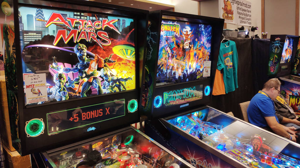 MTZ Arcade had four new machines for guests to play