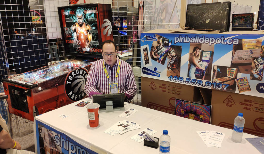 Dino from Pinball Depot was here to talk about custom games and pinball shipping