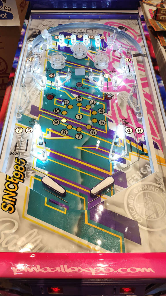 The Pinball Expo game's playfield