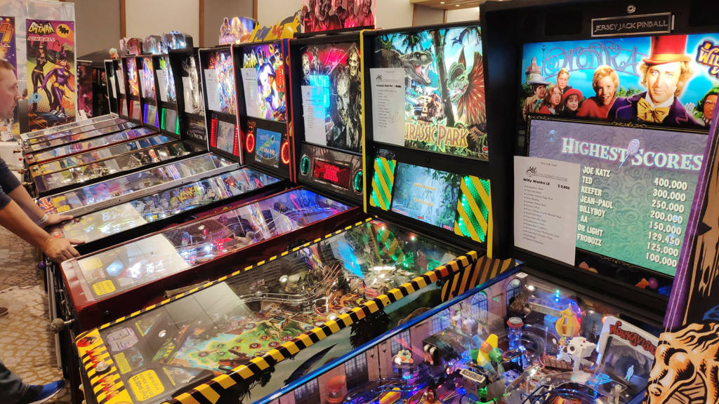 Great American Pinball's line-up of machines