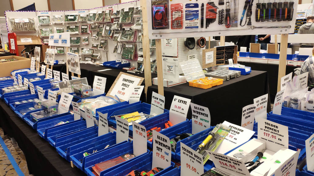 Pinball Wizard Sales & Service had a big display of tools, parts and boards