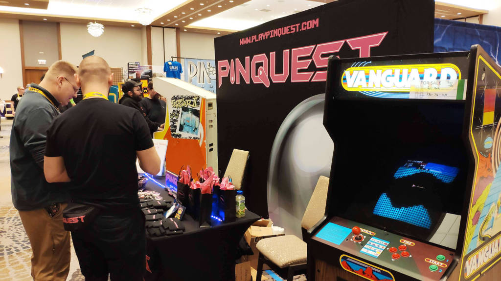 Pinquest were promoting the pinball challenge app they spoke about in their seminar