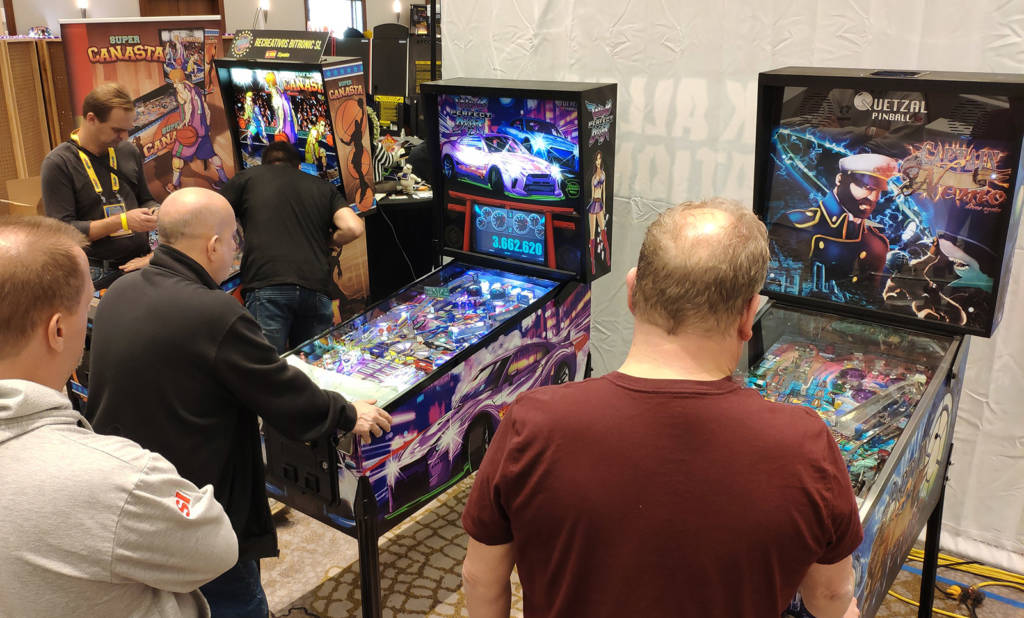 Quetzal Pinball had all three of their titles for guests to play