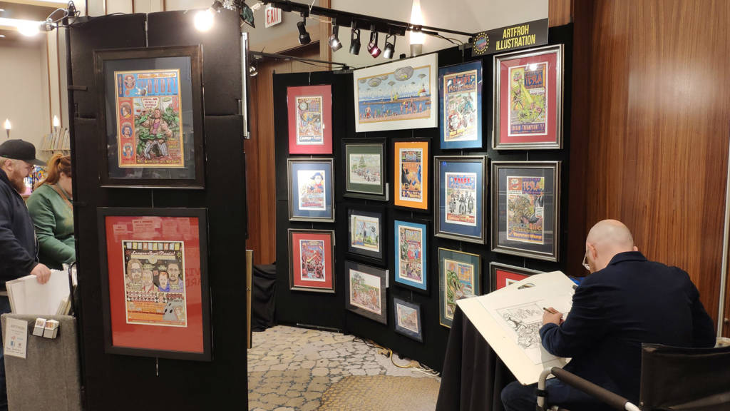 Artfroh Illustration was exhibiting numerous comics, illustrations and caricatures
