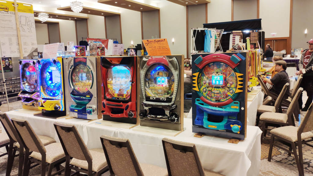 There was a large stand featuring pachinko machines, with a charity competition to win a pass for next year's Expo