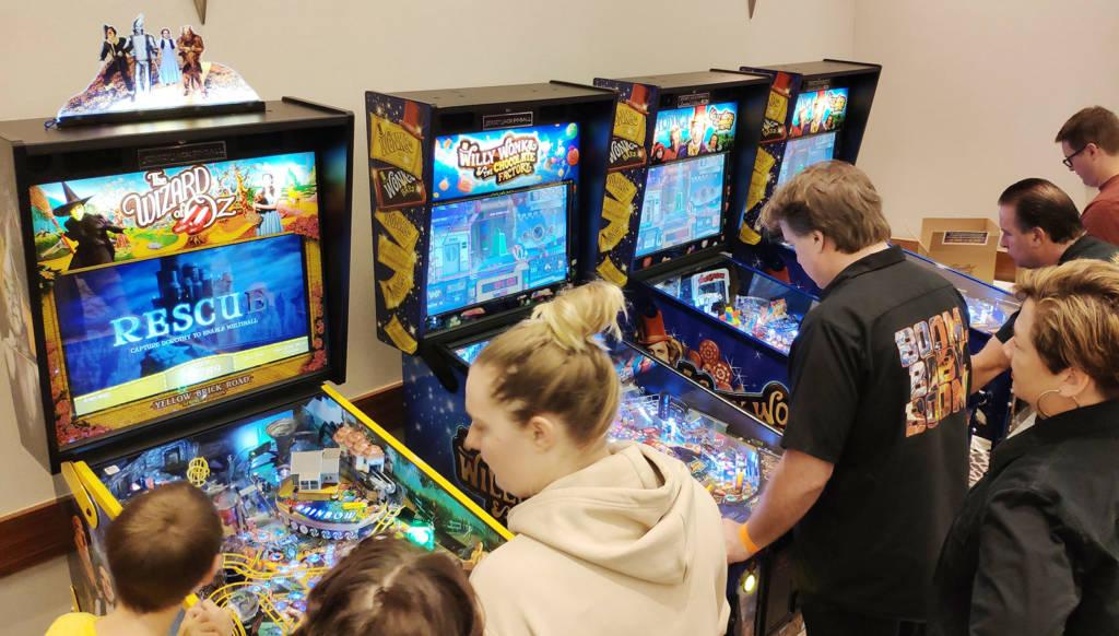 Jersey Jack Pinball brought eight machines to Pinball Expo