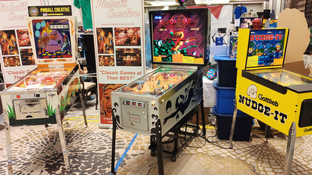 British game restorer Pinball Creative had a display of their work