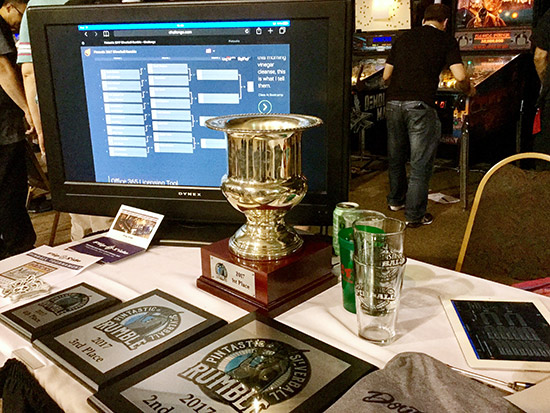 Tournament prizes and Pintastic pint glasses